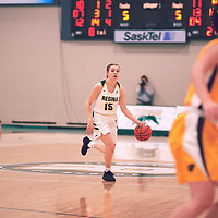 Regina Cougars Women's Basketball on November 16th, 2018 vs the University of Manitoba Bisons.