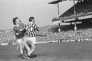 Two Kilkenny players box Cork in during the All Ireland Senior Hurling Final, Cork v Kilkenny in Croke Park on the 3rd September 1972. Kilkenny 3-24, Cork 5-11.