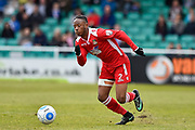 Wrexham AFC Forward, Iffy Allen (2) during the Vanarama National League match between Eastleigh and Wrexham FC at Arena Stadium, Eastleigh, United Kingdom on 29 April 2017. Photo by Adam Rivers.