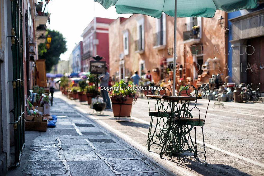 Street view in Puebla, Mexico