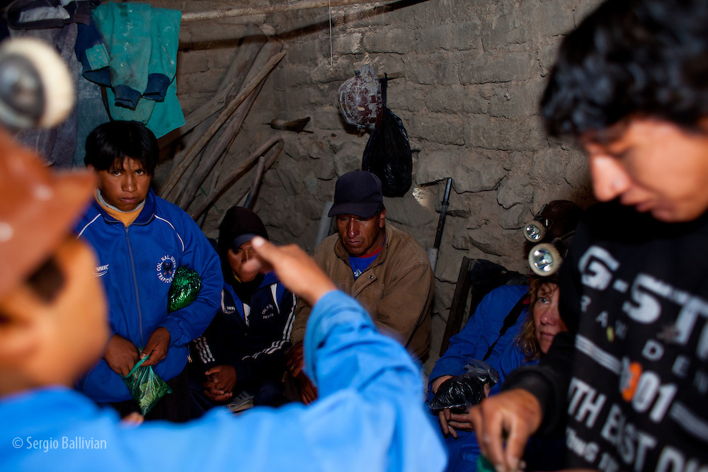 Tourists visit the famous colonial-era mines of Cerro Rico in Potosi, a UNESCO site.  Workiing conditions are still primitive and dangerous, even after 500 years and modern technology.