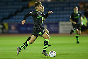 Forest Green Rovers Kyle Taylor(28),on loan from Bournemouth runs forward during the EFL Sky Bet League 2 match between Carlisle United and Forest Green Rovers at Brunton Park, Carlisle, England on 17 September 2019.