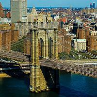 Aerial view of Brooklyn Bridge