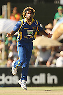 Lasith Malinga during the first Sunfoil ODI between the Proteas and Sri Lanka played at Boland Stadium in Paarl, South Africa on 11 January 2012. Photo by Jacques Rossouw/SPORTZPICS