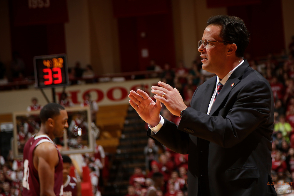 Indiana head coach Tom Crean as Texas Southern University played Indiana in an NCCA college basketball game, Monday, Nov. 17, 2014 in Bloomington, Ind.. (AJ Mast /Photo)