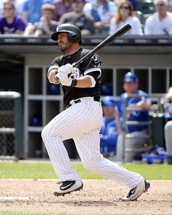 CHICAGO - APRIL 26:  Geovany Soto #18 of the Chicago White Sox bats against the Kansas City Royals on April 26, 2017 at Guaranteed Rate Field in Chicago, Illinois.  The White Sox defeated the Royals 5-2.  (Photo by Ron Vesely)   Subject:  Geovany Soto