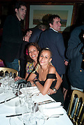 ANDREA DELLAL; ALICE DELLAL, Dinner hosted by Elizabeth Saltzman for Mario Testino and Kate Moss. Mark's Club. London. 5 June 2010. -DO NOT ARCHIVE-© Copyright Photograph by Dafydd Jones. 248 Clapham Rd. London SW9 0PZ. Tel 0207 820 0771. www.dafjones.com.