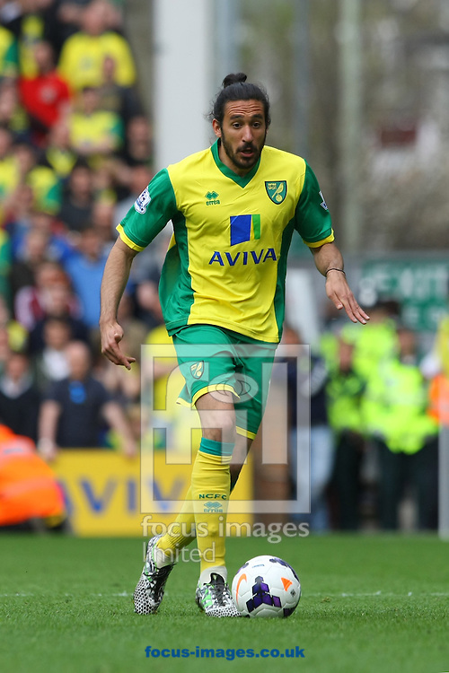 Jonas Gutierrez of Norwich in action during the Barclays Premier League match at Carrow Road, Norwich<br /> Picture by Paul Chesterton/Focus Images Ltd +44 7904 640267<br /> 05/04/2014