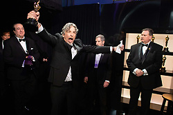 Nick Vallelonga and Peter Farrelly backstage with the Oscar® for original screenplay during the live ABC Telecast of the 91st Oscars® at the Dolby® Theatre in Hollywood, CA on Sunday, February 24, 2019.