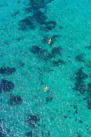 Aerial View, Sea kayaking, Florida Keys, Florida USA