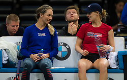 November 8, 2018 - Prague, Czech Republic - Danielle Collins & Alison Riske of the United States during practice ahead of the 2018 Fed Cup Final between the Czech Republic and the United States of America (Credit Image: © AFP7 via ZUMA Wire)
