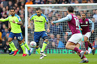 Aston Villa v Derby County - Sky Bet Championship<br /> BIRMINGHAM, ENGLAND - APRIL 28 :  Bradley Johnson, of Derby County, gets the ball under control.