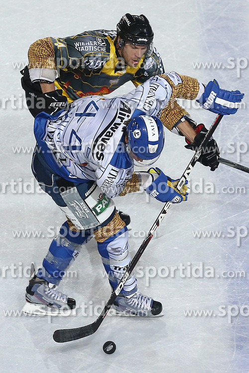 16.09.2012, Amphitheater, Pula, CRO, EBEL, Ice Fever, KHL Medvescak Zagreb vs UPC Vienna Capitals, 04. Runde, im Bild Geoff Waugh, Andre Lakos // during the Erste Bank Icehockey League 04th Round match betweeen KHL Medvescak Zagreb and UPC Vienna Capitals at the Amphitheater, Pula, Croatia on 2012/09/16. EXPA Pictures © 2012, PhotoCredit: EXPA/ Pixsell/ Igor Kralj ****** ATTENTION - OUT OF CRO, SRB, MAZ, BIH and POL *****