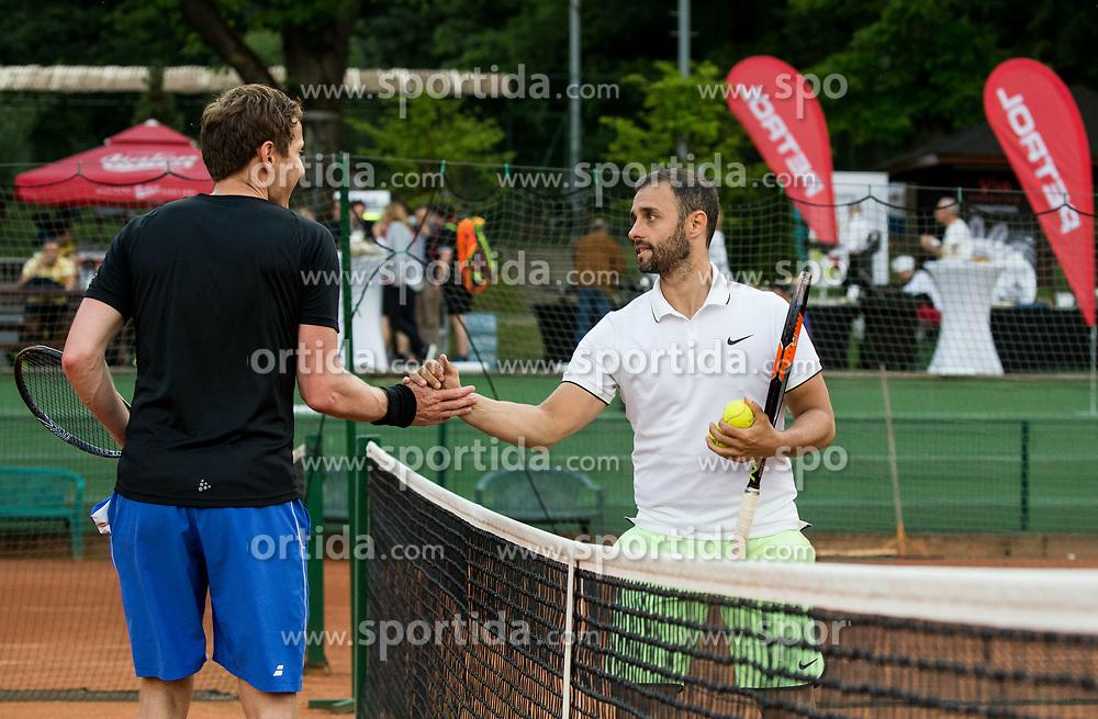 Uros Mesojedec and Aljaz Kos at Petrol VIP tournament 2018, on May 24, 2018 in Sports park Tivoli, Ljubljana, Slovenia. Photo by Vid Ponikvar / Sportida