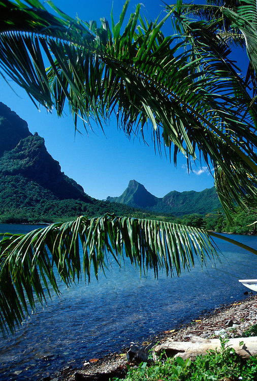 A view of the peaks on Moorea, French Polynesia