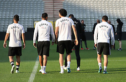 June 5, 2018 - Brussels, BELGIUM - Egypt's players pictured during a training session of the Egyptian national soccer team, Tuesday 05 June 2018, in Brussels. Egypt will play on Wednesday a friendly game against the Belgian national soccer team Red Devils to prepare the upcoming FIFA World Cup 2018 in Russia. BELGA PHOTO VIRGINIE LEFOUR (Credit Image: © Virginie Lefour/Belga via ZUMA Press)