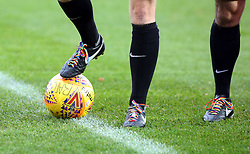 A general view of the Rainbow coloured laces worn by the match officials in support of the charity Stonewall - Mandatory by-line: Joe Dent/JMP - 25/11/2017 - FOOTBALL - Crown Oil Arena - Rochdale, England - Rochdale v Peterborough United - Sky Bet League One