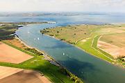 Nederland, Zuid-Holland, Hoeksche Waard, 09-05-2013; Spui richting Haringvliet met Goeree-Overvlakkee aan de horizon. Links Hoeksche Waard, met Korendijkse Slikken, rechts Voorne-Putten.<br /> Islands between South Holland and Zealand.<br /> luchtfoto (toeslag op standard tarieven)<br /> aerial photo (additional fee required)<br /> copyright foto/photo Siebe Swart