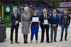 Kellis William and Jean, (Ireland Verband), HRH Princess Benedikte<br /> CHI de Genève 2016<br /> © Hippo Foto - Dirk Caremans<br /> 10-12-2016