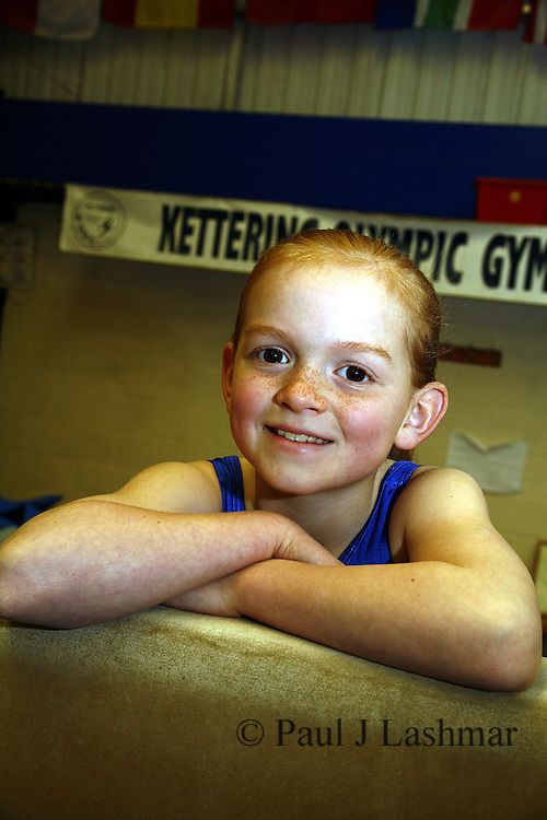 Kettering Olympic Gymnastic member, Zoe Parker, 8, who has won a chance to train with Daniel Keating
