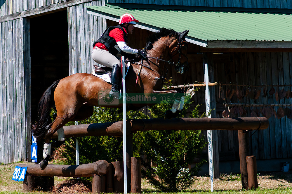 March 22, 2019 - Raeford, North Carolina, US - March 23, 2019 - Raeford, N.C., USA - BRUCE (BUCK) DAVIDSON JR. of the United States riding PARK TRADER competes in the cross country CCI-4S division at the sixth annual Cloud 11-Gavilan North LLC Carolina International CCI and Horse Trial, at Carolina Horse Park. The Carolina International CCI and Horse Trial is one of North AmericaÃ•s premier eventing competitions for national and international eventing combinations, hosting International competition at the CCI2*-S through CCI4*-S levels and National levels of Training through Advanced. (Credit Image: © Timothy L. Hale/ZUMA Wire)