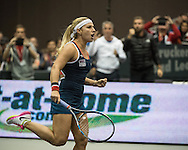 Dominika Cibulkova (SVK) during the quarter finals of the WTA Generali Ladies Linz Open at TipsArena, Linz<br /> Picture by EXPA Pictures/Focus Images Ltd 07814482222<br /> 14/10/2016<br /> *** UK &amp; IRELAND ONLY ***<br /> <br /> EXPA-REI-161014-5002.jpg