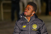 Ismaila Soro of Celtic FC arrives at Parkhead ahead of the Europa League match between Celtic and FC Copenhagen at Celtic Park, Glasgow, Scotland on 27 February 2020.