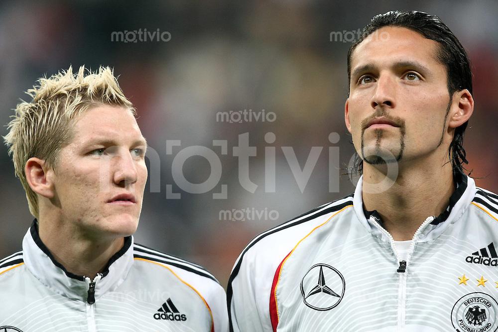 Fussball  International   EM Qualifikation  Deutschland 0-3 Tschechien Bastian Schweinsteiger (GER,li) und Kevin Kuranyi (GER)