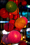Lighted balls, Khaosarn Road, Bangkok, Thailand