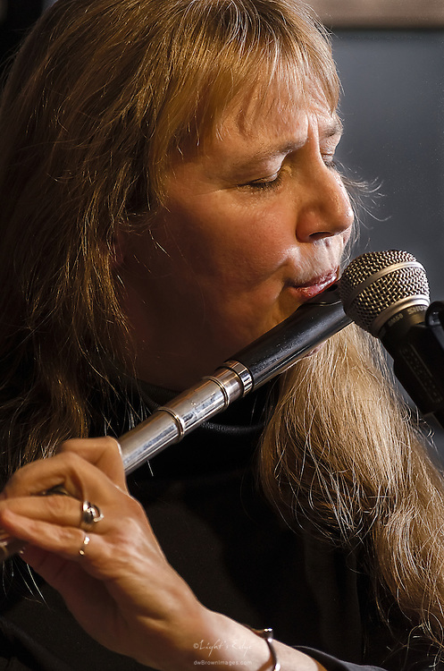 Kirsten Erwin on flute perfoming with Scott McClatchy and friends at The Bus Stop Music Cafe in Pitman, NJ.