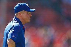 SAN FRANCISCO, CA - OCTOBER 14: Head coach Tom Coughlin of the New York Giants watches his team during warm ups before the game against the San Francisco 49ers at Candlestick Park on October 14, 2012 in San Francisco, California. The New York Giants defeated the San Francisco 49ers 26-3. Photo by Jason O. Watson/Getty Images) *** Local Caption *** Tom Coughlin