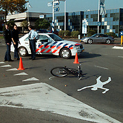 Ongeval bestevear - Ambachtsweg Huizen, kind aangereden door taxi