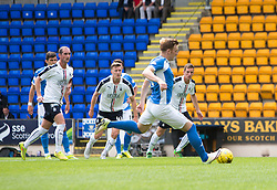 St Johnstone's Liam Craig misses their first penalty. St Johnstone 3 v 0 Falkirk, Group B, Betfred Cup, played 23/7/2016 at St Johnstone's home ground, McDiarmid Park.