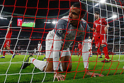 Liverpool defender Joel Matip (32) finds the back of the net again but not for an own goal on this occasion during the Champions League match between Bayern Munich and Liverpool at the Allianz Arena, Munich, Germany, on 13 March 2019.