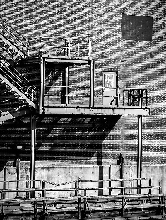 Architectural abstract from the west side of the old Bailey Power Plant in downtown Winston-Salem, NC