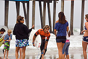 Pro Surfers and Fans at Huntington Beach California