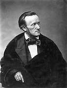 Richard Wagner, 1813-83, German composer, conductor and writer of operas, on his second stay in Paris, France, photograph, c. 1860, by Pierre Petit. Copyright © Collection Particuliere Tropmi / Manuel Cohen