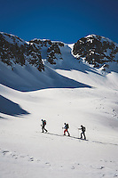 Day 4 - Chip Kogelmann, Mark Kogelmann, and Ryan Riggins traveling through the backcountry of the northern San Juan Mountains, Colorado.