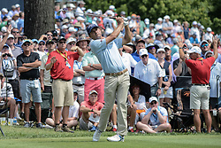 August 9, 2018 - Town And Country, Missouri, U.S - KEVIN KISNER from Aiken South Carolina, USA  watches his tee shot from on the 6th hole during round one of the 100th PGA Championship on Thursday, August 8, 2018, held at Bellerive Country Club in Town and Country, MO (Photo credit Richard Ulreich / ZUMA Press) (Credit Image: © Richard Ulreich via ZUMA Wire)