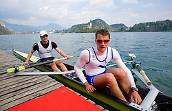 Kolander Rok and Miha Pirih at 51st Prvomajska Regatta Bled 2010, on April 25, 2010, at Lake Bled, Bled, Slovenia. (Photo by Vid Ponikvar / Sportida)