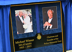 Michael Winner public memorial.   Memorial takes place at the National Police Memorial. The film director and food critic helped establish, following his death on January 23 2013. <br /> Geraldine Winner, Sir Michael Parkinson, Sir Michael Caine, Sir Roger Moore, Cilla Black, Carol Vorderman, Sir Terence Conran, give eulogies, <br /> London, United Kingdom<br /> Sunday, 23rd June 2013<br /> Picture by Nils Jorgensen / i-Images