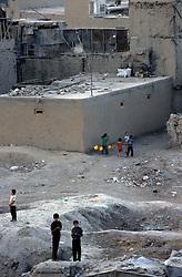 KABUL, children playing in Jada-Mawand's district