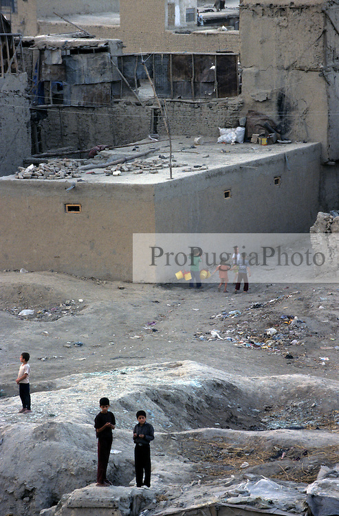 KABUL, children playing in Jada-Mawand's district