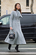 Blue Gingham Coat, Outside Dior Couture SS2015