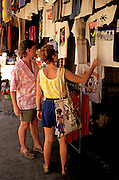 Image of tourists shopping in Acapulco, Mexico, model released