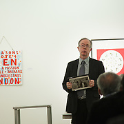Art auction held at Gimpel Fils in support of Ken Livingstone's bid for London Mayor in May 2012. A very clear message from artist Bob and Roberta Smith.