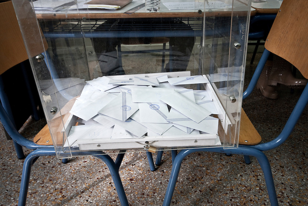 Greece, Athens, January 25th 2015 - Greeks vote for Parliamentary Elections.