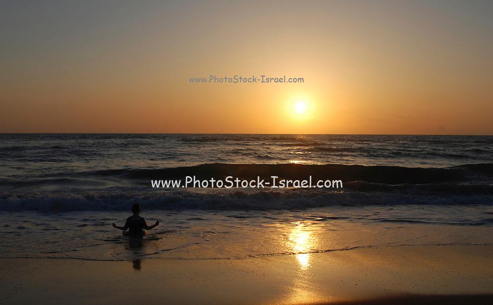 Israel, Sunset on the mediterranean sea