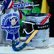 The real trophy next to Quaffstafari's fake final round prop.