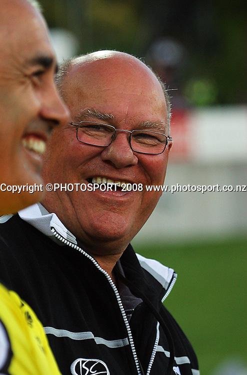 Frank Endicott is all smiles after the win.<br /> Rugby League - All Golds v New Zealand Maori at Yarrow Stadium, New Plymouth. Sunday, 12 October 2008. Photo: Dave Lintott/PHOTOSPORT